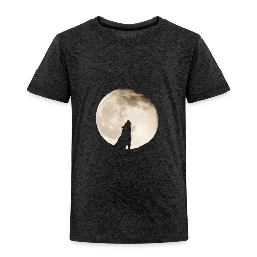 The wolf with the moon - T-shirt Premium Enfant