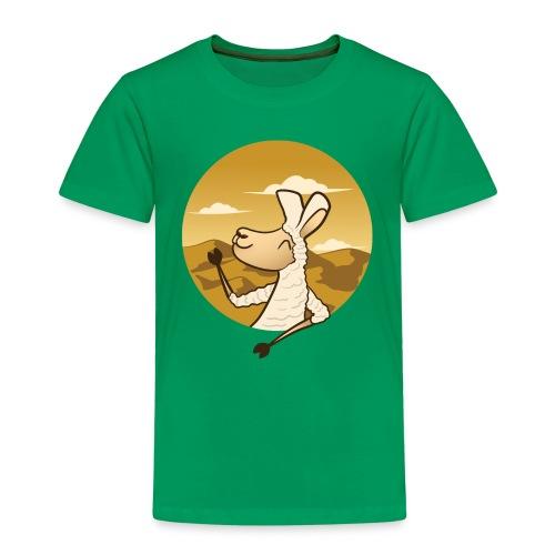 Waving Llama - Børne premium T-shirt