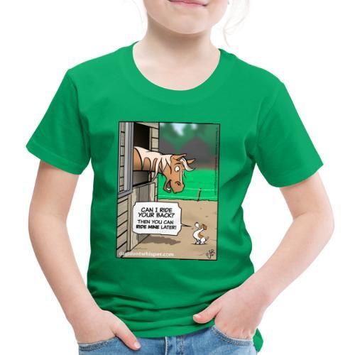 Horse & Jack Russell terrier dog - Kids' Premium T-Shirt