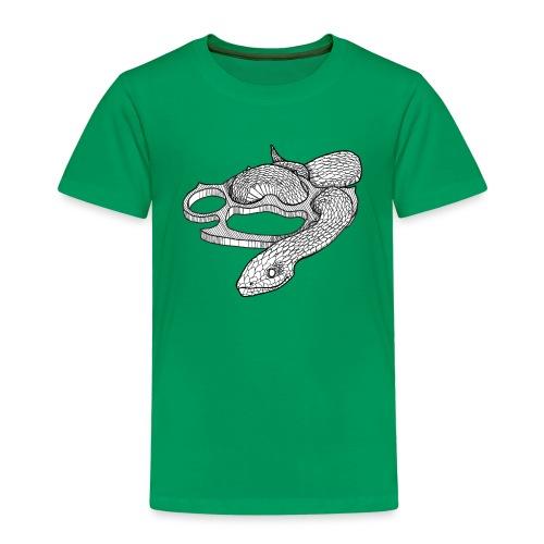 Schlange mit Schlagring - Kinder Premium T-Shirt