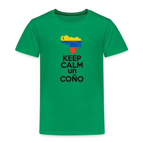 Keep calm Venezuela - Modelo Color y Negro - Camiseta premium niño