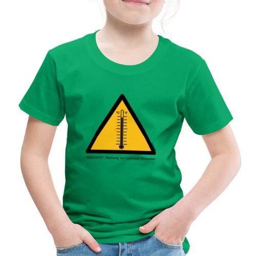 Warnung vor nutzlosen Klimazielen - Kinder Premium T-Shirt