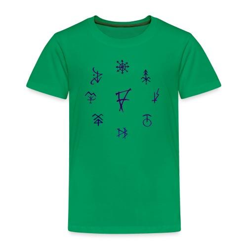 Círculo de runas - Camiseta premium niño