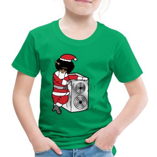 Afro Santa w/ Music Speaker - Kids' Premium T-Shirt