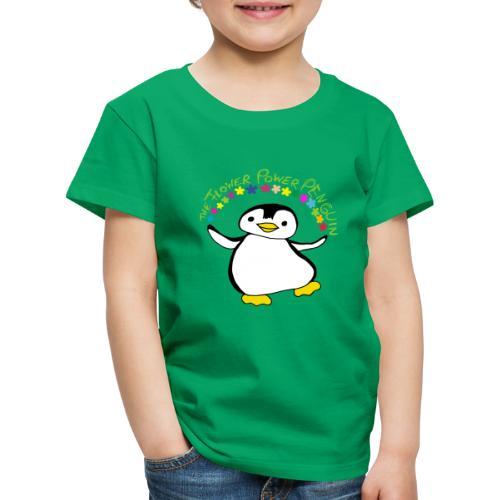Pinguin Flower Power - Kinder Premium T-Shirt