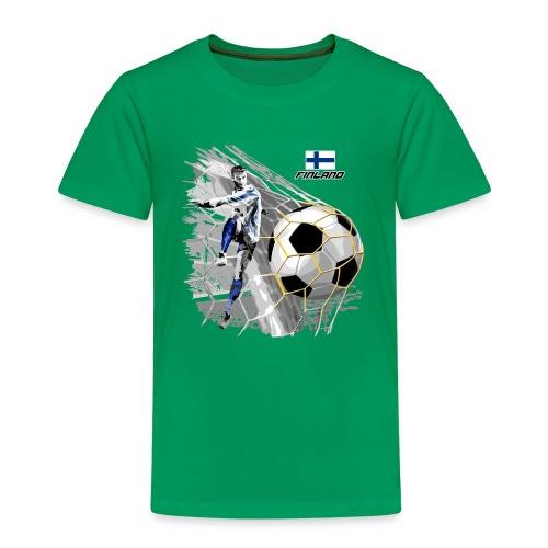 FINLAND FOOTBALL SOCCER PLAY T SHIRTS, GIFTS etc. - Lasten premium t-paita