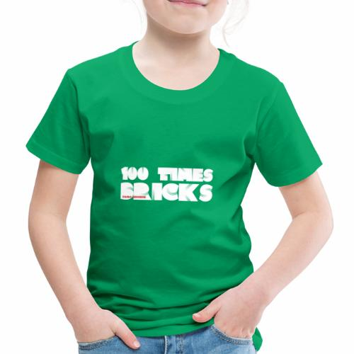 100 TIMES BRICKS retrò - Maglietta Premium per bambini