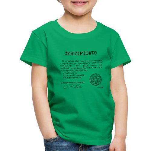 1.07 Certificato Piu Generico (Aggiungi nome) - Maglietta Premium per bambini