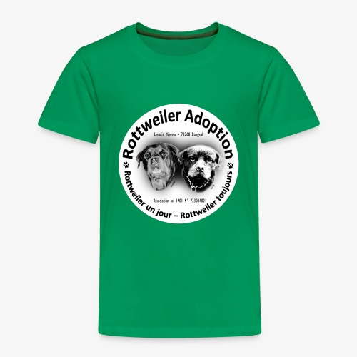 ROTTWEILER ADOPTION LOGO NOIR ET BLANC - T-shirt Premium Enfant