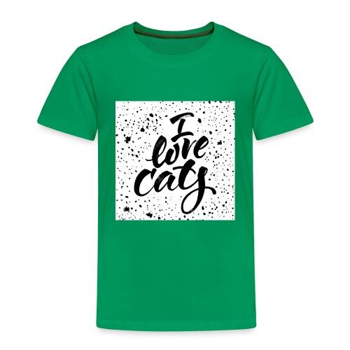 amo gatos - Camiseta premium niño