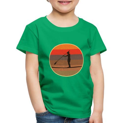 Stand up paddling (SUP) im Sonnenuntergang - Kinder Premium T-Shirt