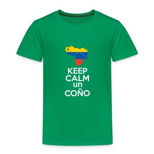 Keep calm Venezuela - Modelo Color y Blanco - Camiseta premium niño