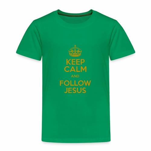 Keep Calm and Follow Jesus christliche mode - Kinder Premium T-Shirt