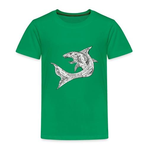 Tribal Shark - Maglietta Premium per bambini