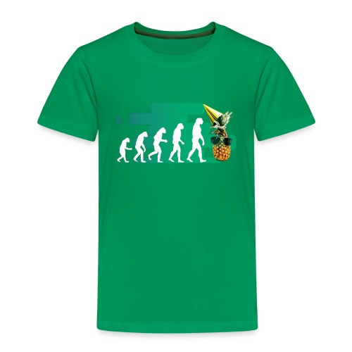 Evolution der coolen Ananas mit schoenen Hintergru - Kinder Premium T-Shirt