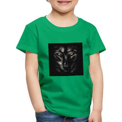 94320755 myo desenho retrato de um lobo negro sobr - Camiseta premium niño