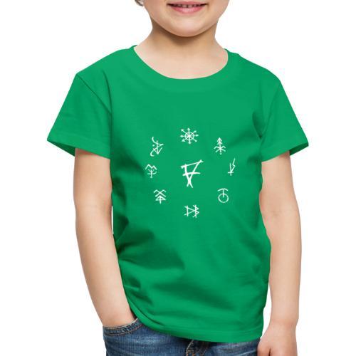 Círculo de runas blanco - Camiseta premium niño