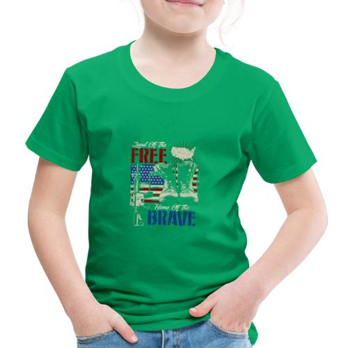 Land of the Free - Home of the Brave - Kinder Premium T-Shirt