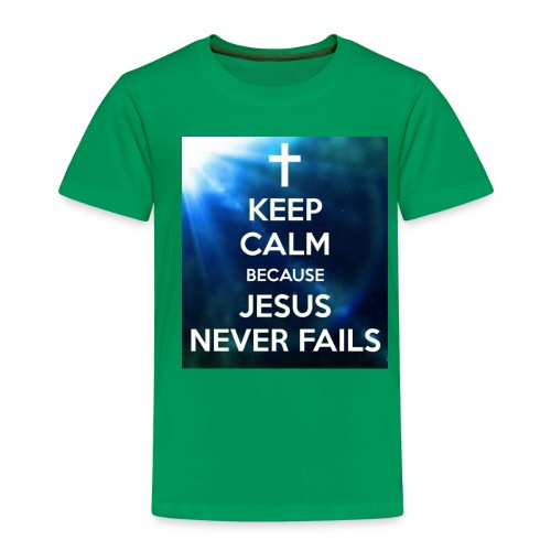 keep calm because jesus never fails - T-shirt Premium Enfant