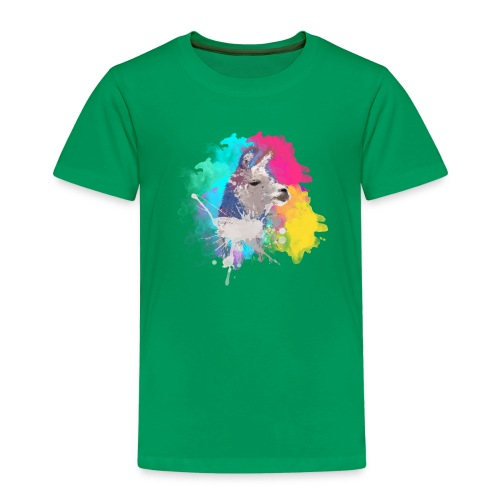 Colorful Llama - Børne premium T-shirt