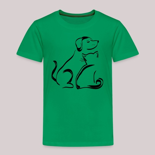 Hund Katze Paar - Kinder Premium T-Shirt