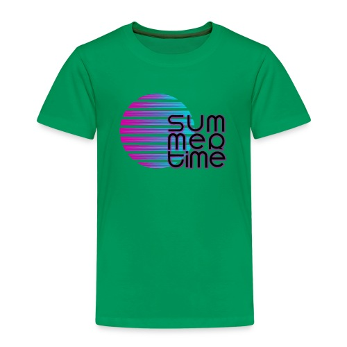 Sommerzeit SummerTime - Lüstiges Geschenk T-Shirt - Kinder Premium T-Shirt