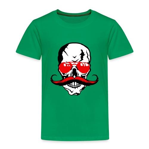 tete de mort crane moustache skull moustachu fanta - T-shirt Premium Enfant