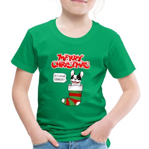 Christmas Dinner Bulldog - Kinderen Premium T-shirt