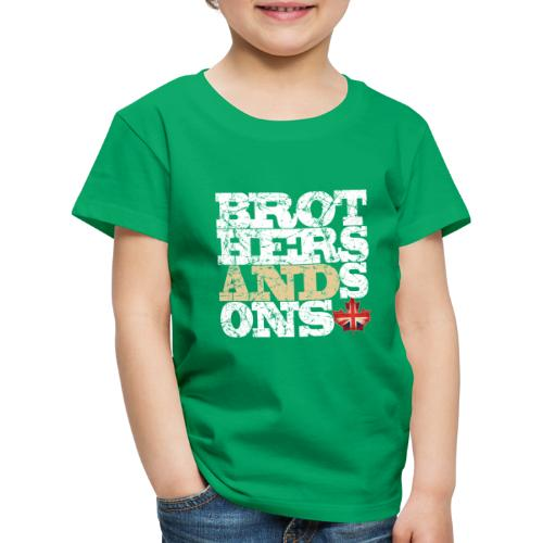 Brothers and Sons logo - light design - Kids' Premium T-Shirt