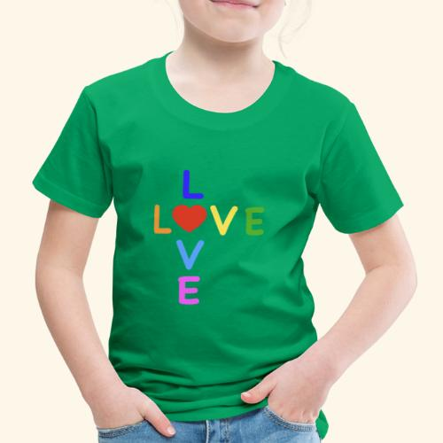 Rainbow Love. Regenbogen Liebe - Kinder Premium T-Shirt