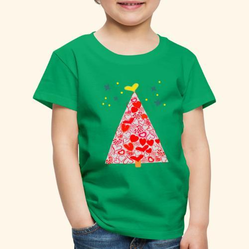 Christbaum der Herzen - Kinder Premium T-Shirt