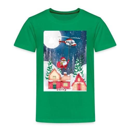 Black Santa kommt mit dem Hubschrauber - Kinder Premium T-Shirt