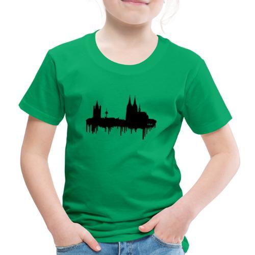 Skyline Köln - Schwarz - Kinder Premium T-Shirt