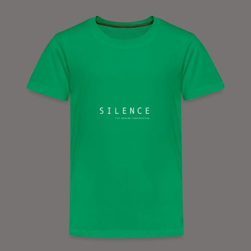 Silence text and corp neg 01 - Kids' Premium T-Shirt
