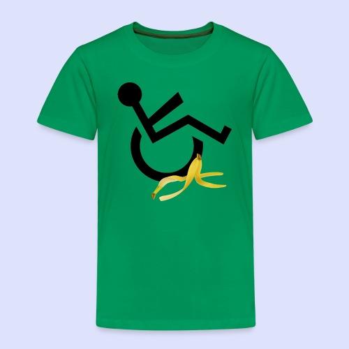 Rolstoel gebruiker glijdt uit over banaan - Kinderen Premium T-shirt
