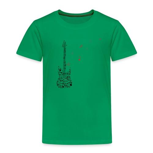 Noten Gitarre T-Shirt für Musikliebhaber - Kinder Premium T-Shirt