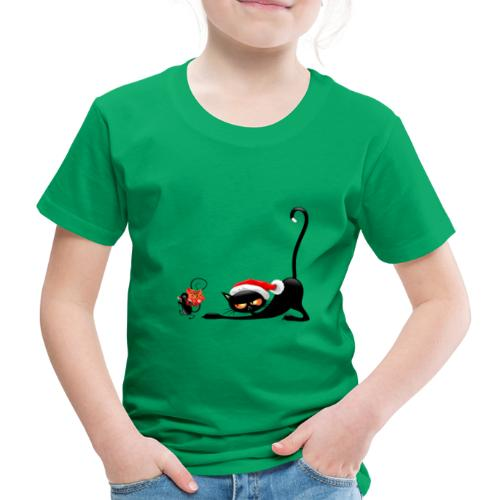 Cat chases mouse - Kids' Premium T-Shirt