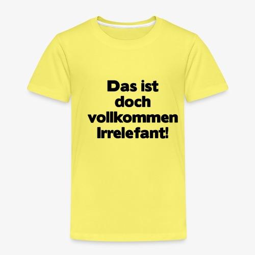 Irrelefant schwarz - Kinder Premium T-Shirt