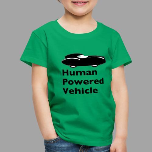 Quattrovelo Human Powered Vehicle black - Lasten premium t-paita