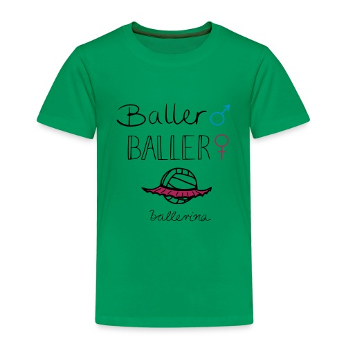 Volleyball Ballerina - Kinder Premium T-Shirt