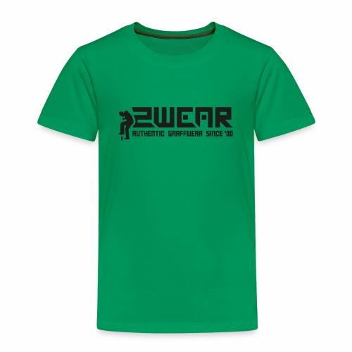2wear org tagline logo blk - Børne premium T-shirt