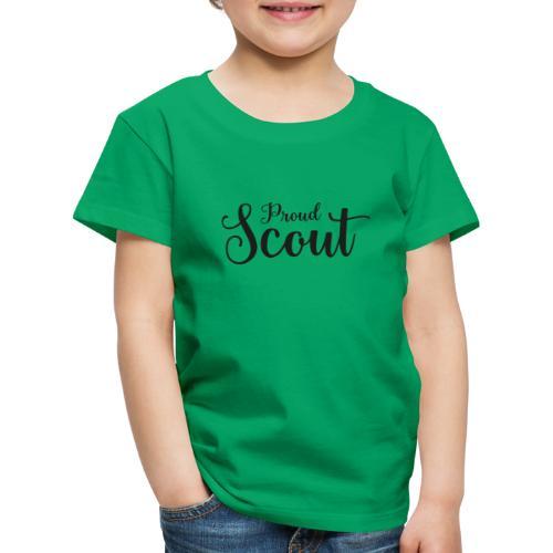 Proud Scout Lettering Black - Kinder Premium T-Shirt