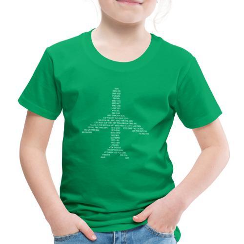 IATA-koodit lentokone - valkoinen - Lasten premium t-paita