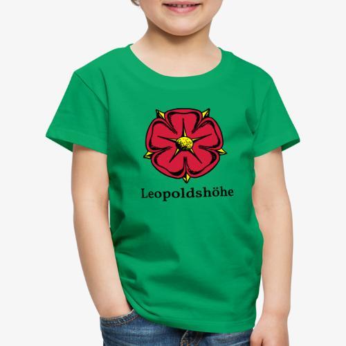 Lippische Rose mit Unterschrift Leopoldshöhe - Kinder Premium T-Shirt
