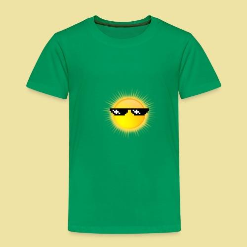 coole Sonne mit Sonnenbrille - Kinder Premium T-Shirt