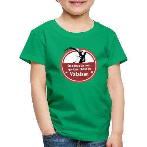 On a tous en nous qqch de Valaisan - Steinbock - Kinder Premium T-Shirt