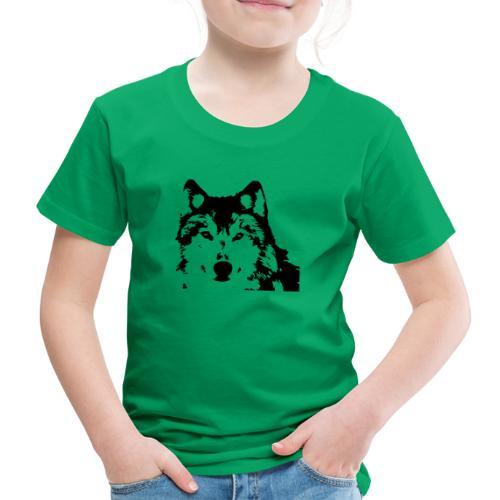 Wolf - Loup - Husky - Kinder Premium T-Shirt