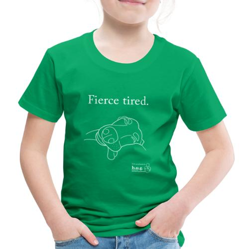 Fierce Tired Greyhound - Kids' Premium T-Shirt