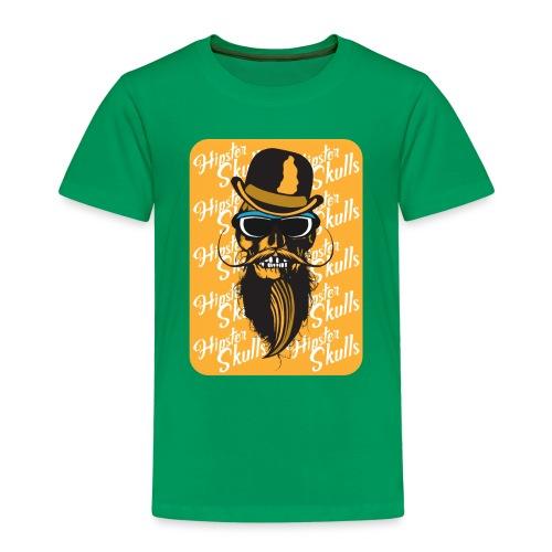 tete de mort crane hipster skull barbu moustache c - T-shirt Premium Enfant