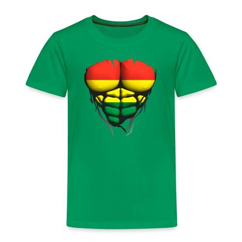 lituanie drapeau torse corps muscle abdo - T-shirt Premium Enfant